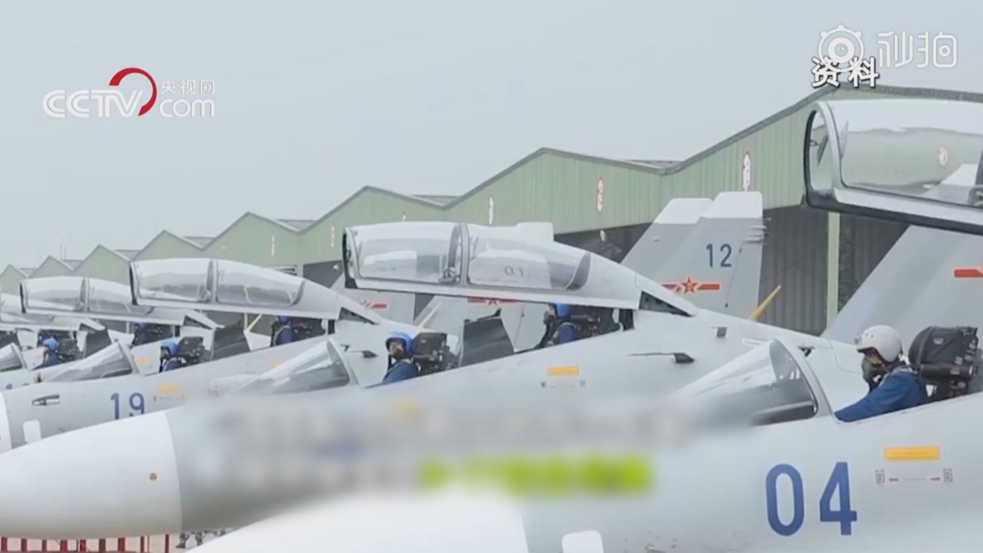 大陸蘇-30戰機進入台灣空域遭驅趕