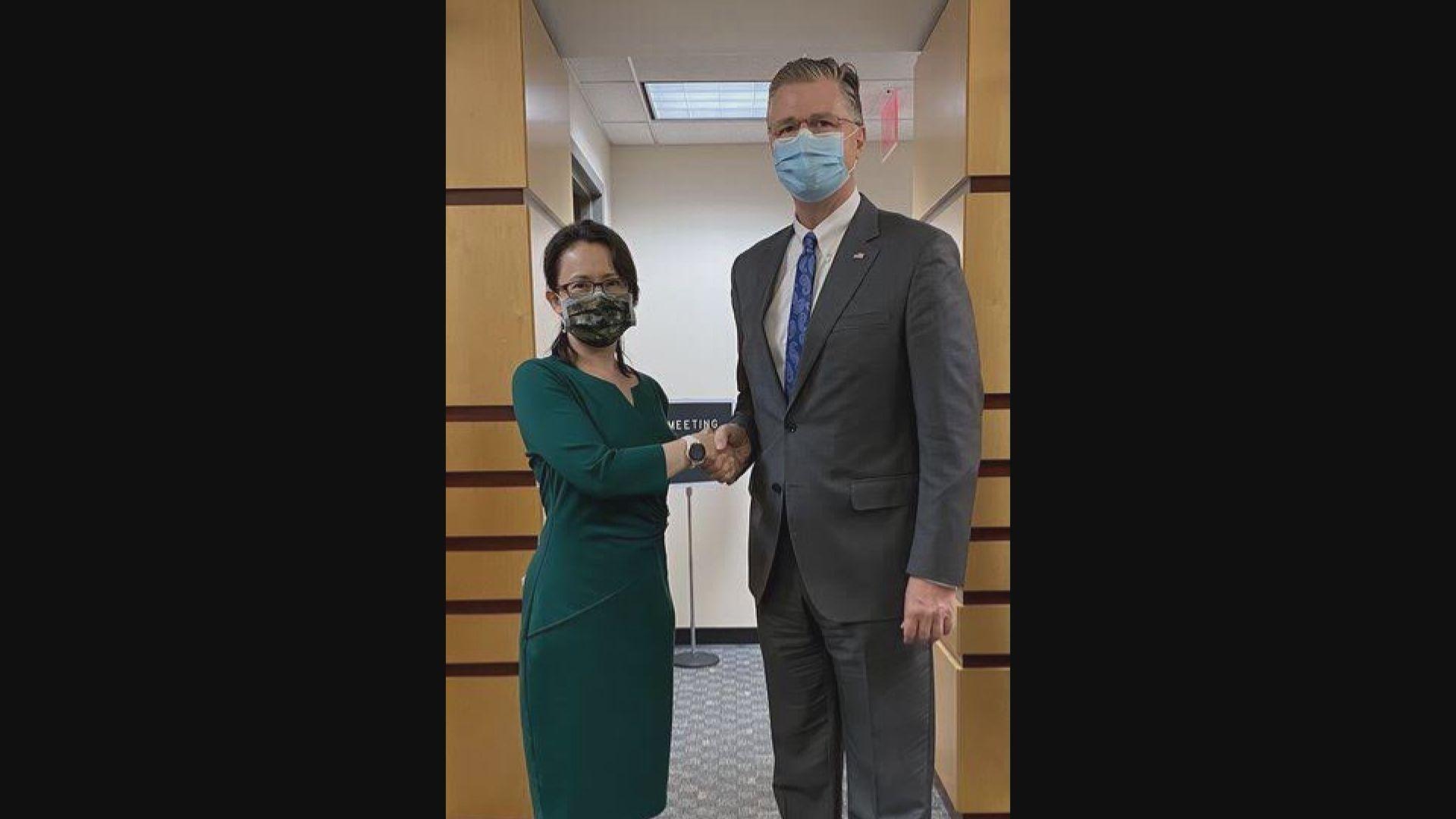 中方就美國國務院高官會見蕭美琴提出嚴正交涉