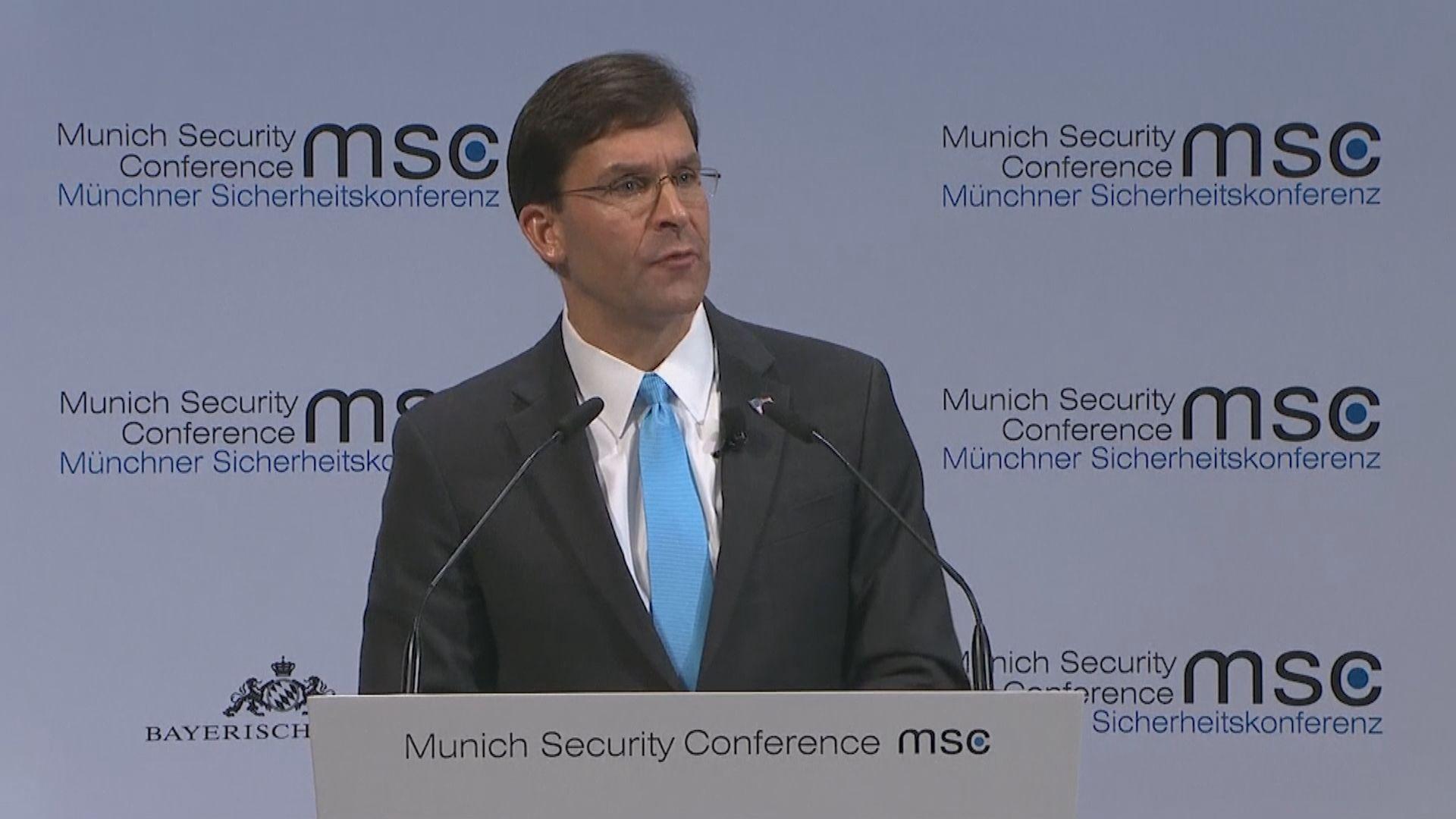 美國防部長:中國具侵略性的軍事姿態令人擔憂