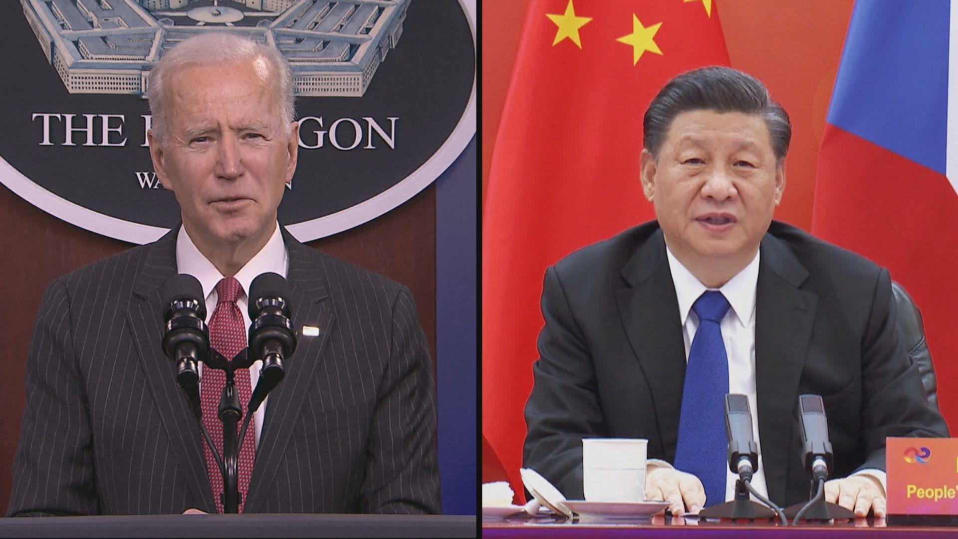 中美元首討論兩國競爭下如何不陷入衝突