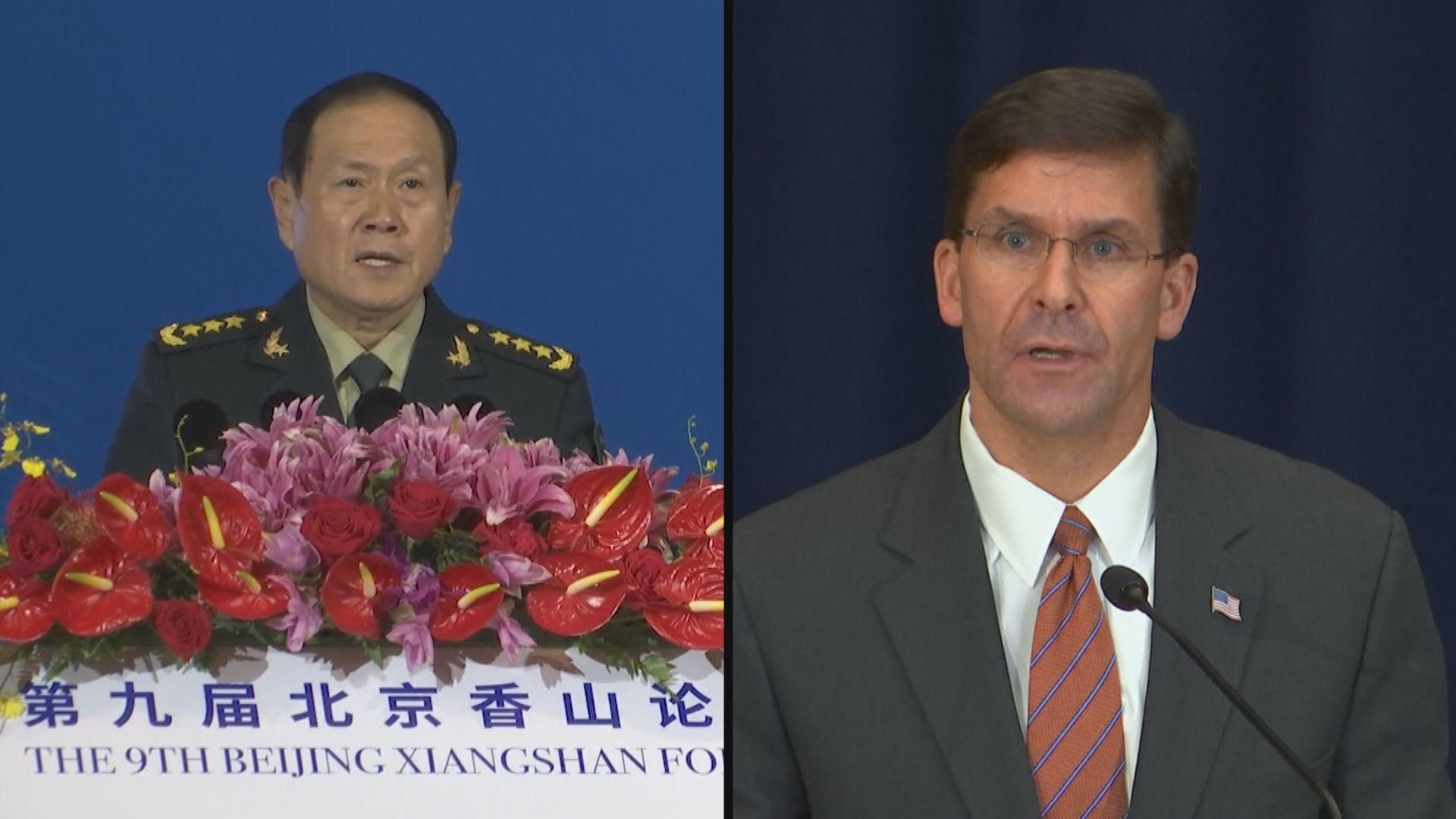 魏鳳和與美防長通話促加強海上管控