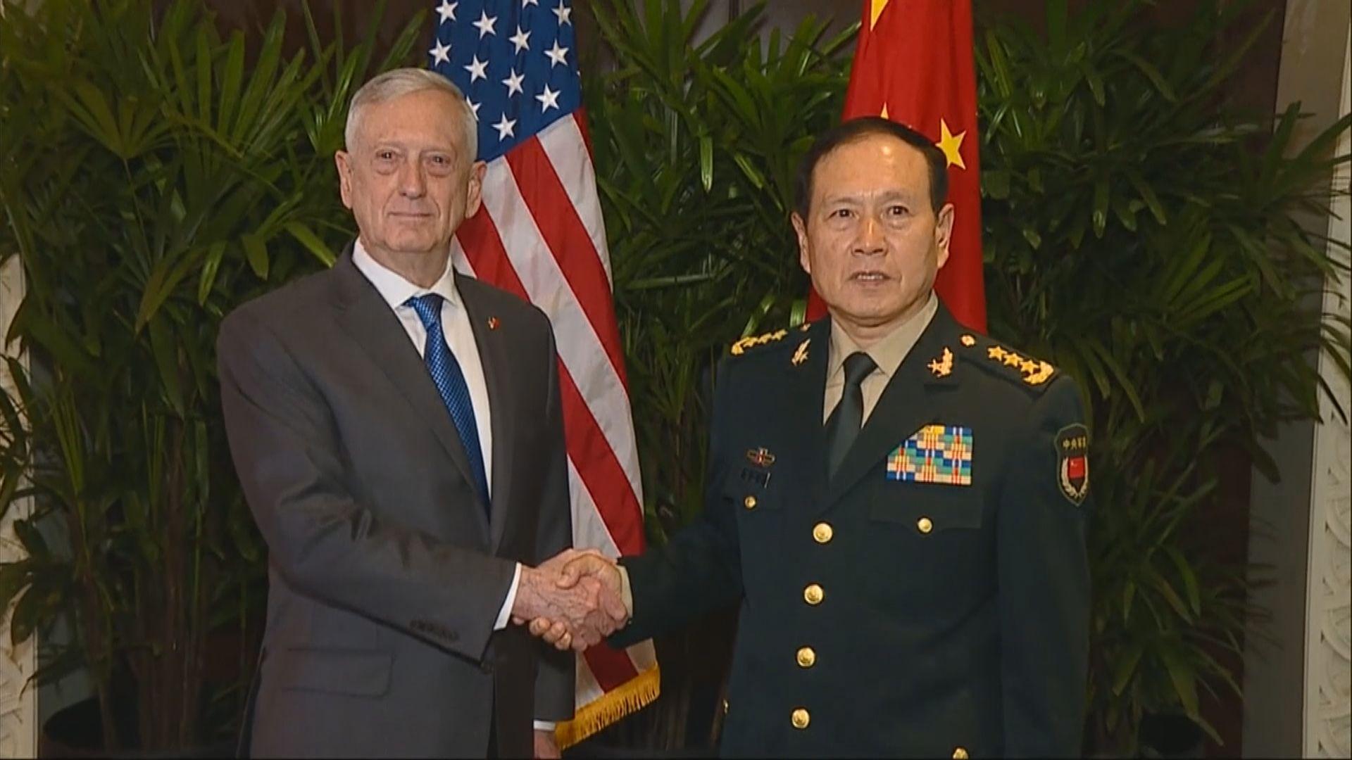 中美防長將會在華盛頓會面