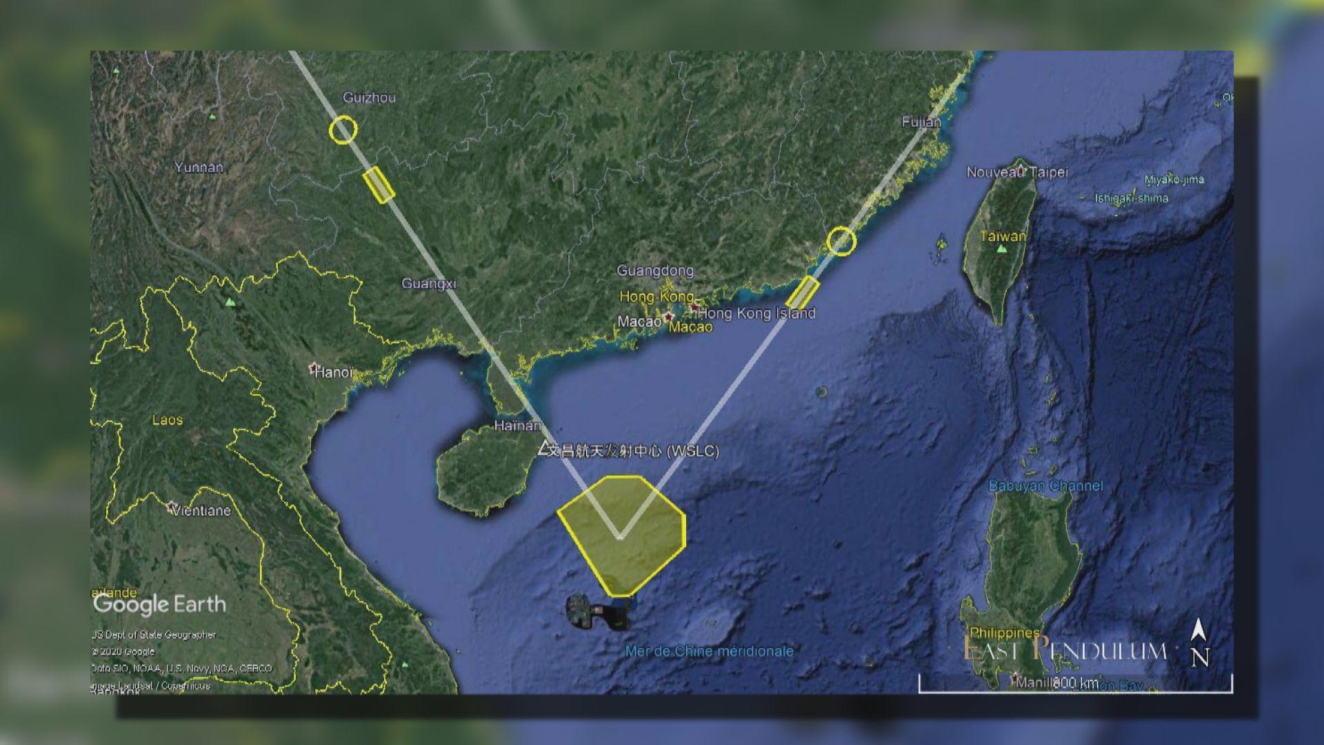 外電:中國周三向南海試射四支中程彈道導彈