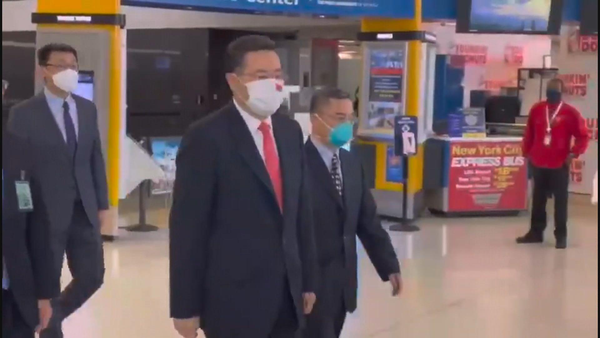 新任中國駐美大使秦剛抵美履新