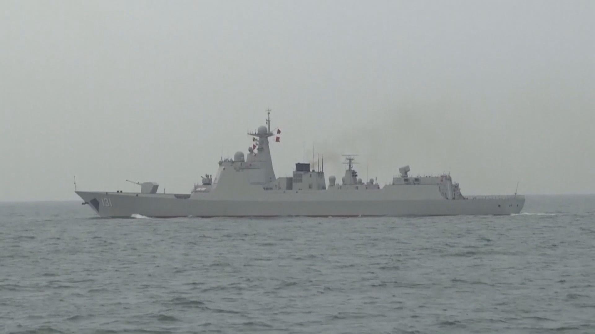 台媒:中美軍艦昨日同時在蘭嶼外海出現