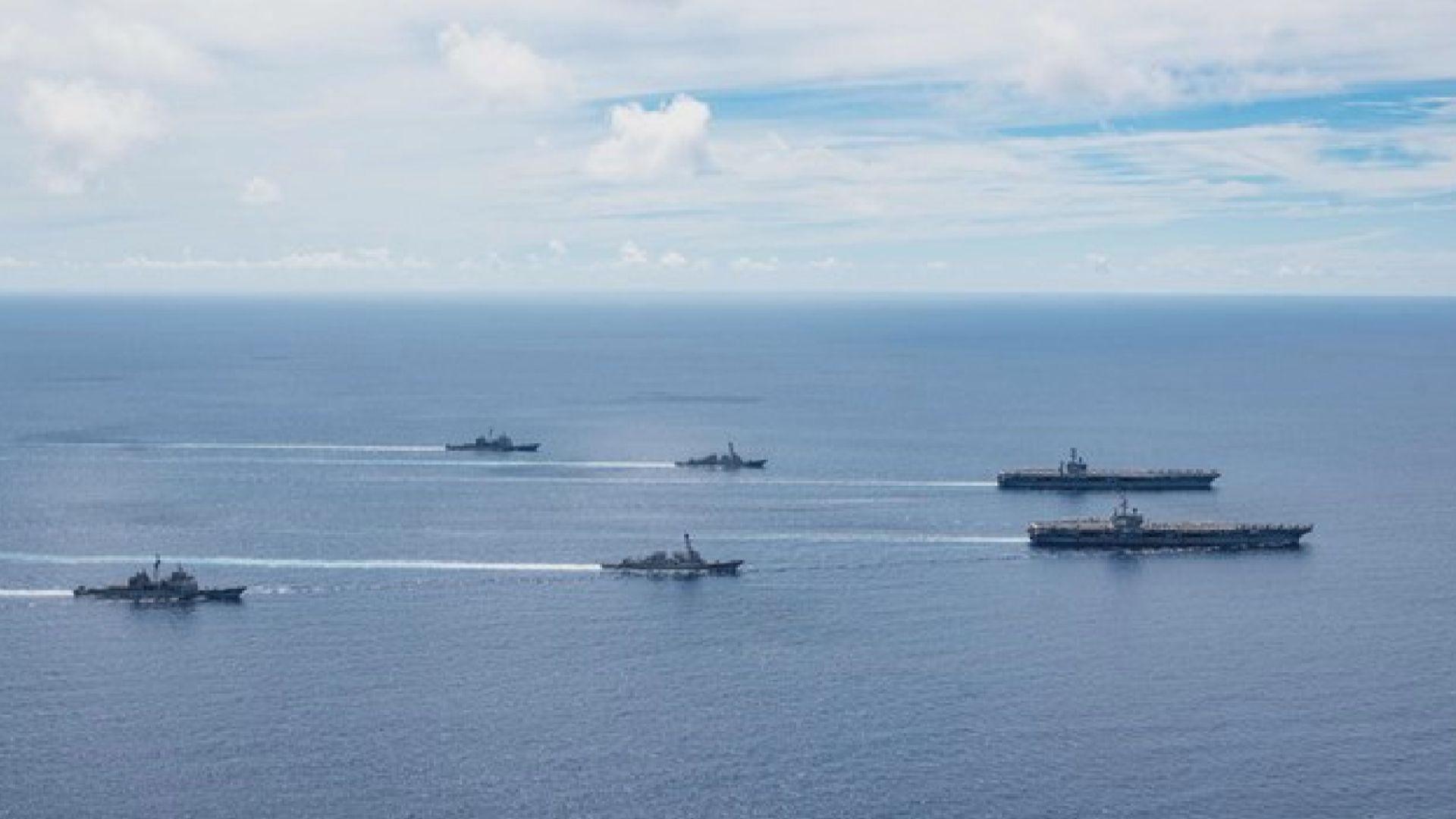 美軍兩個航母戰鬥群再次在南海軍演