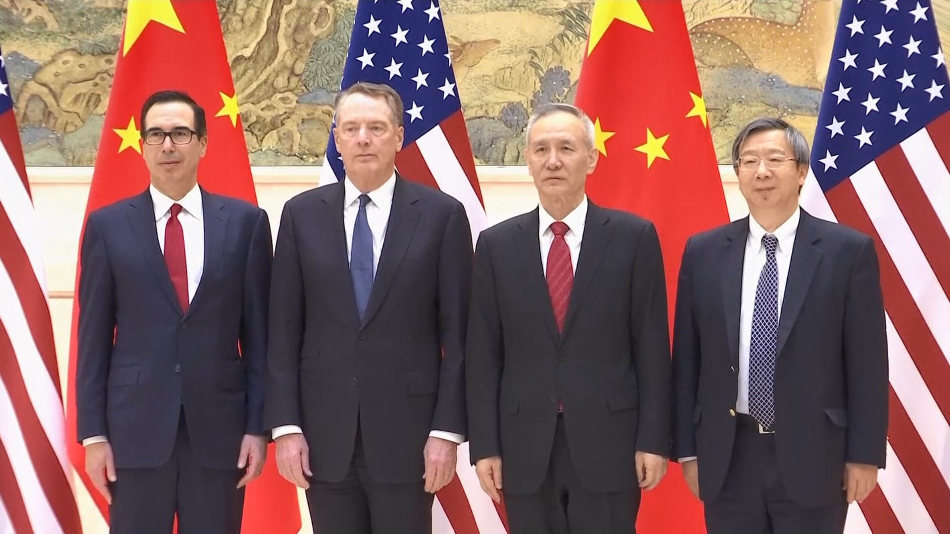 美財長姆努欽下周一率團赴華進行貿易談判