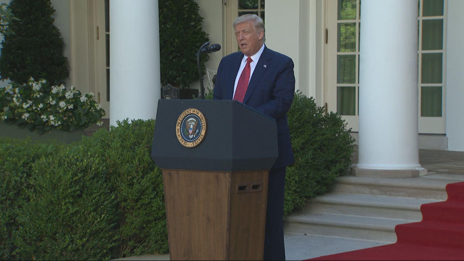 特朗普重申無興趣與中國進行第二階段貿易談判