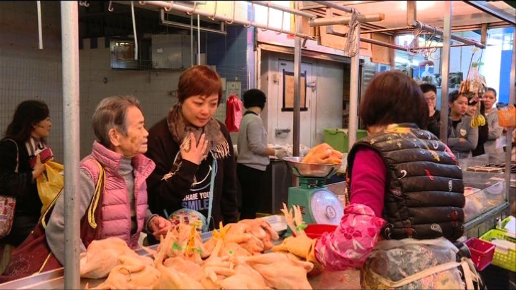 有市民到街市準備團年飯 料花費逾千元