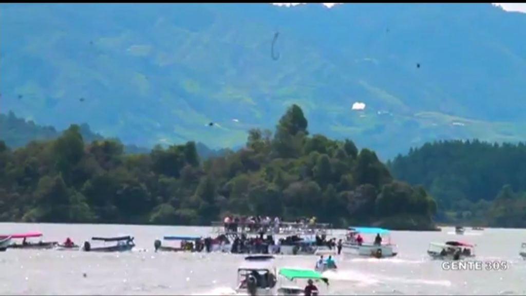 哥倫比亞觀光船沉沒九死多人失蹤