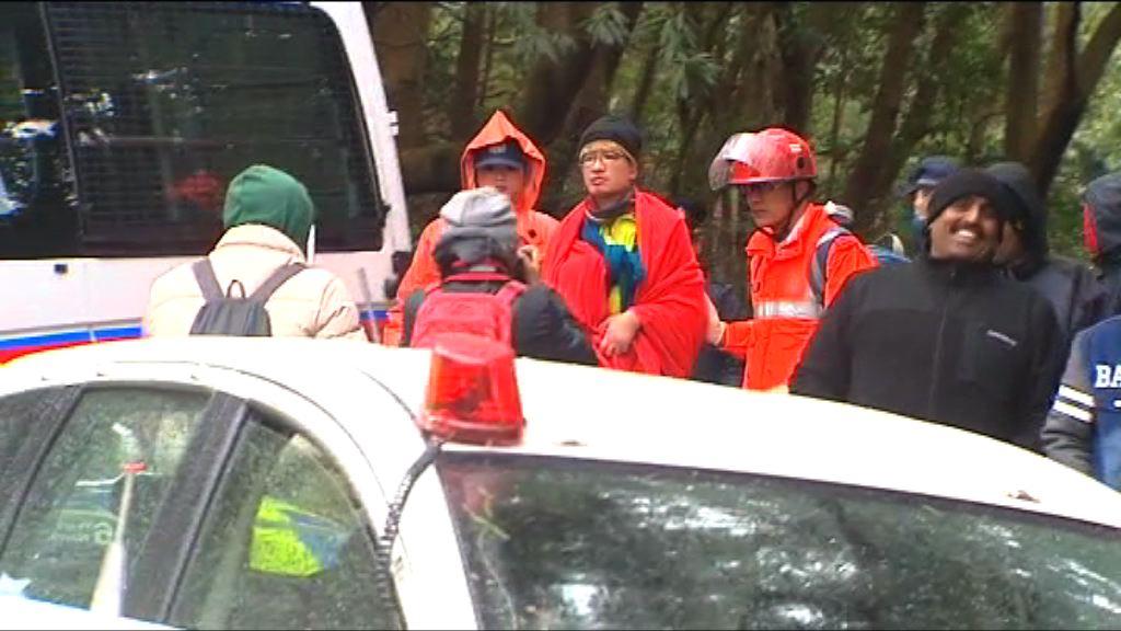 消防登山拯救被困行山人士