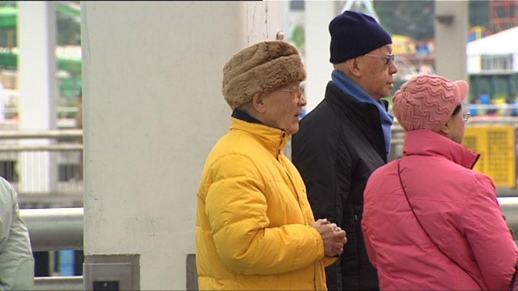 受冬季季候風影響 早上最低氣溫僅12度