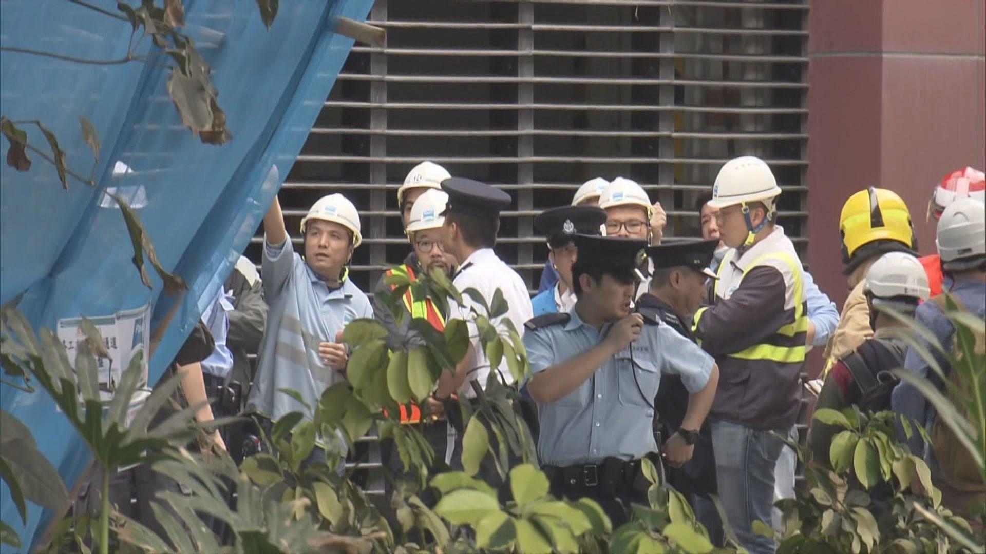 筲箕灣大型棚架倒塌一工人傷