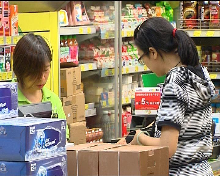 超市貨品去年平均加價0.9%