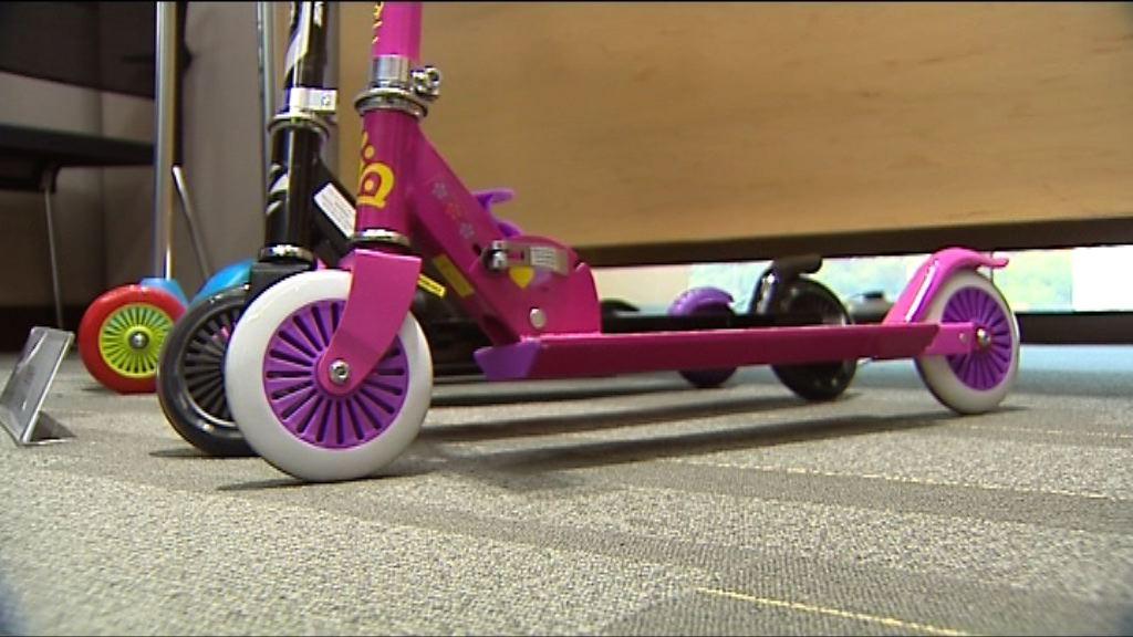 有兒童滑板車安全不達標致兒童易跌倒受傷