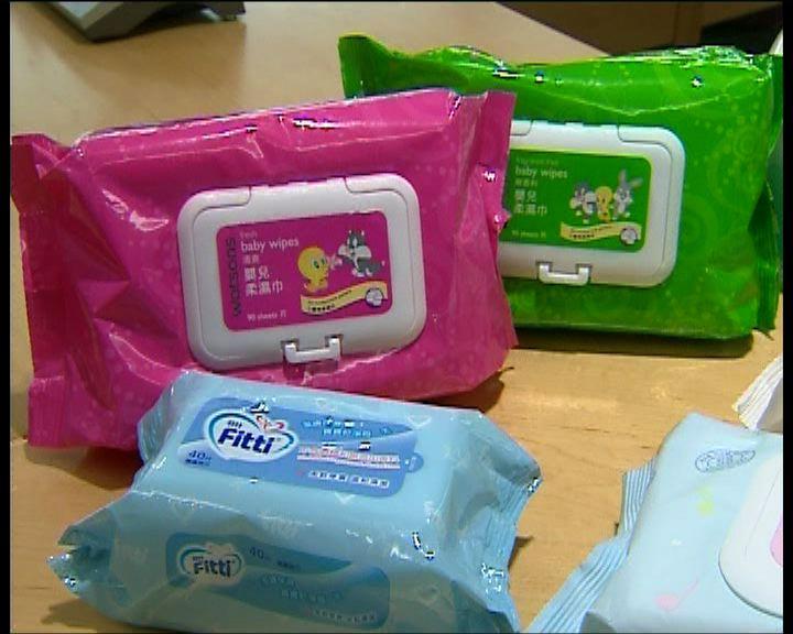 9款嬰兒濕紙巾含防腐劑或致敏
