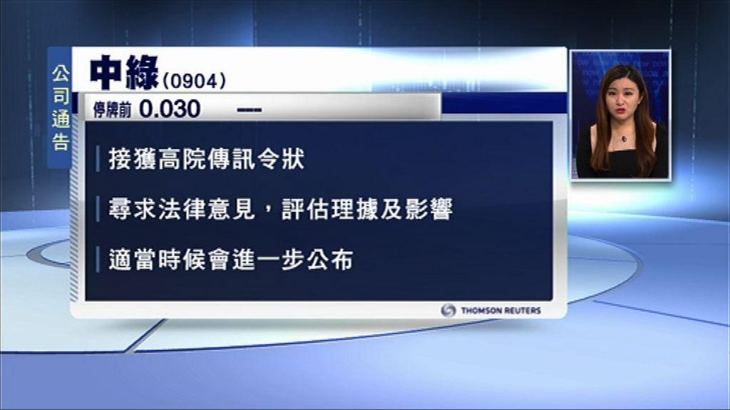 【另外兩間照Trade】中綠回應康宏訴訟後停牌