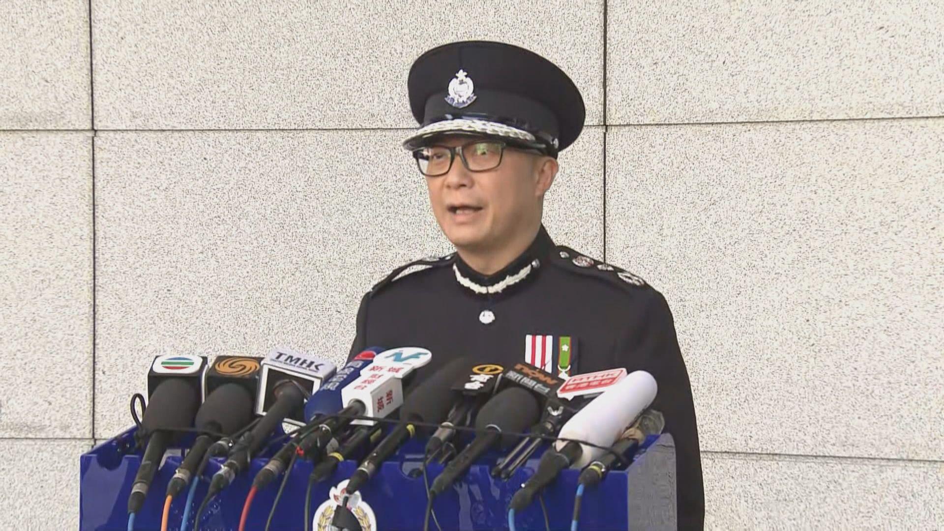 鄧炳強:示威者違法行為令他感哀傷 繼續支持同袍執法