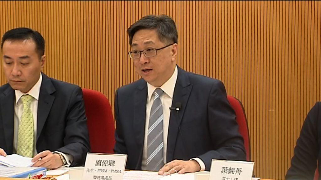 盧偉聰:上半年罪案跌一成三