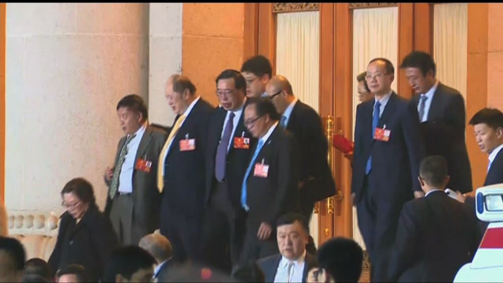 汪洋與香港政協委員會面