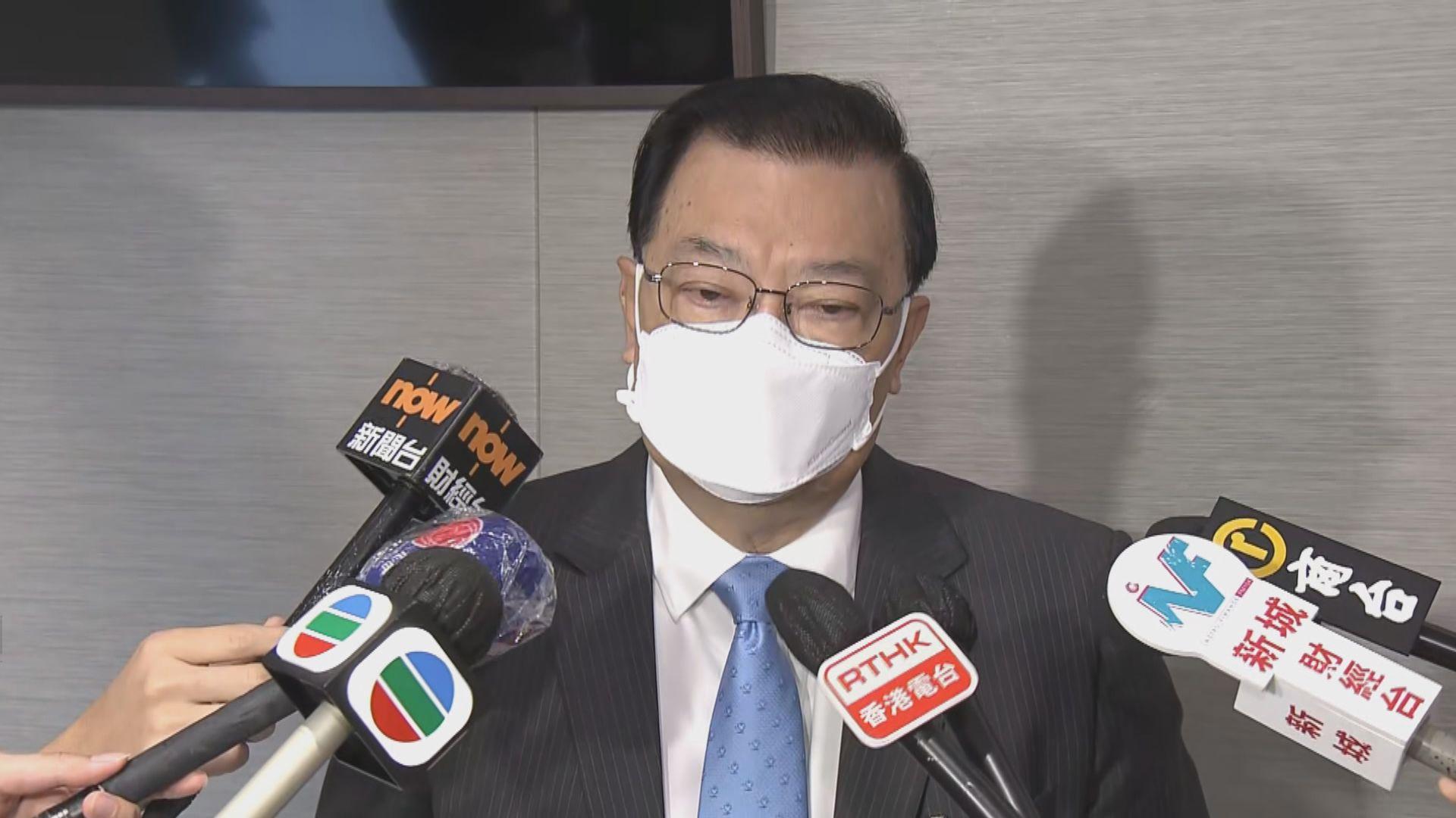 譚耀宗:未知下月全國人大會議後返港檢疫安排