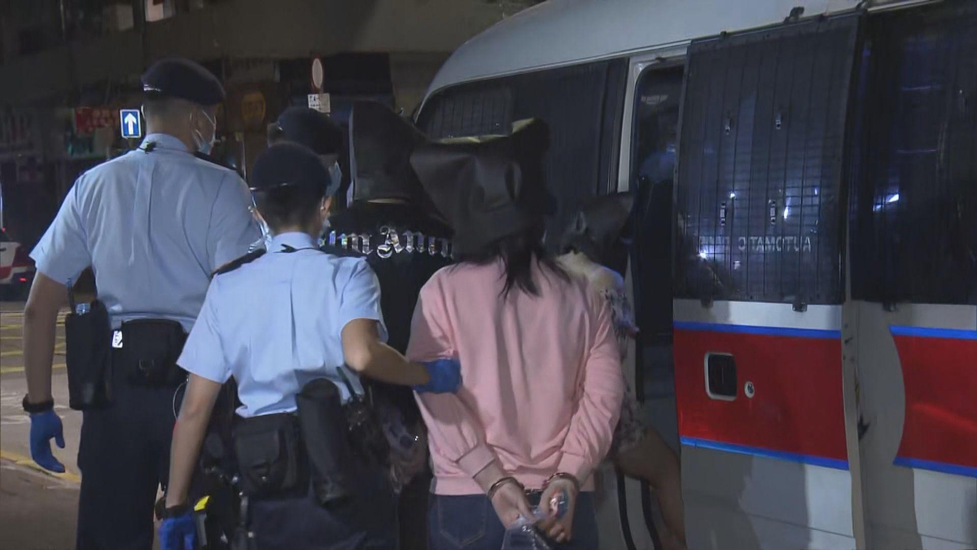 警方反黑搜查西九及荃灣多處地點 廿多人被捕