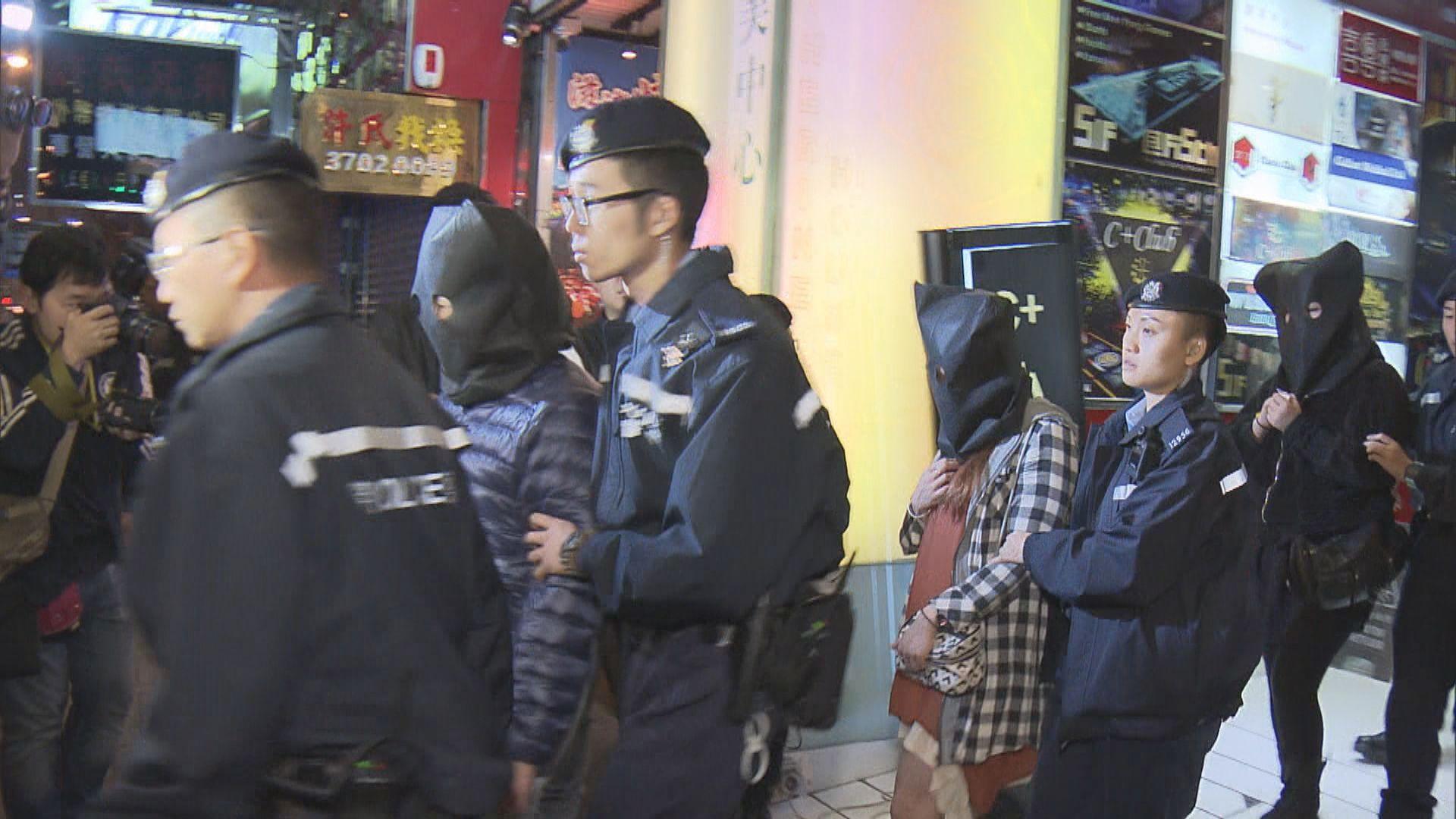 警方展開全港反黑巡查娛樂場所