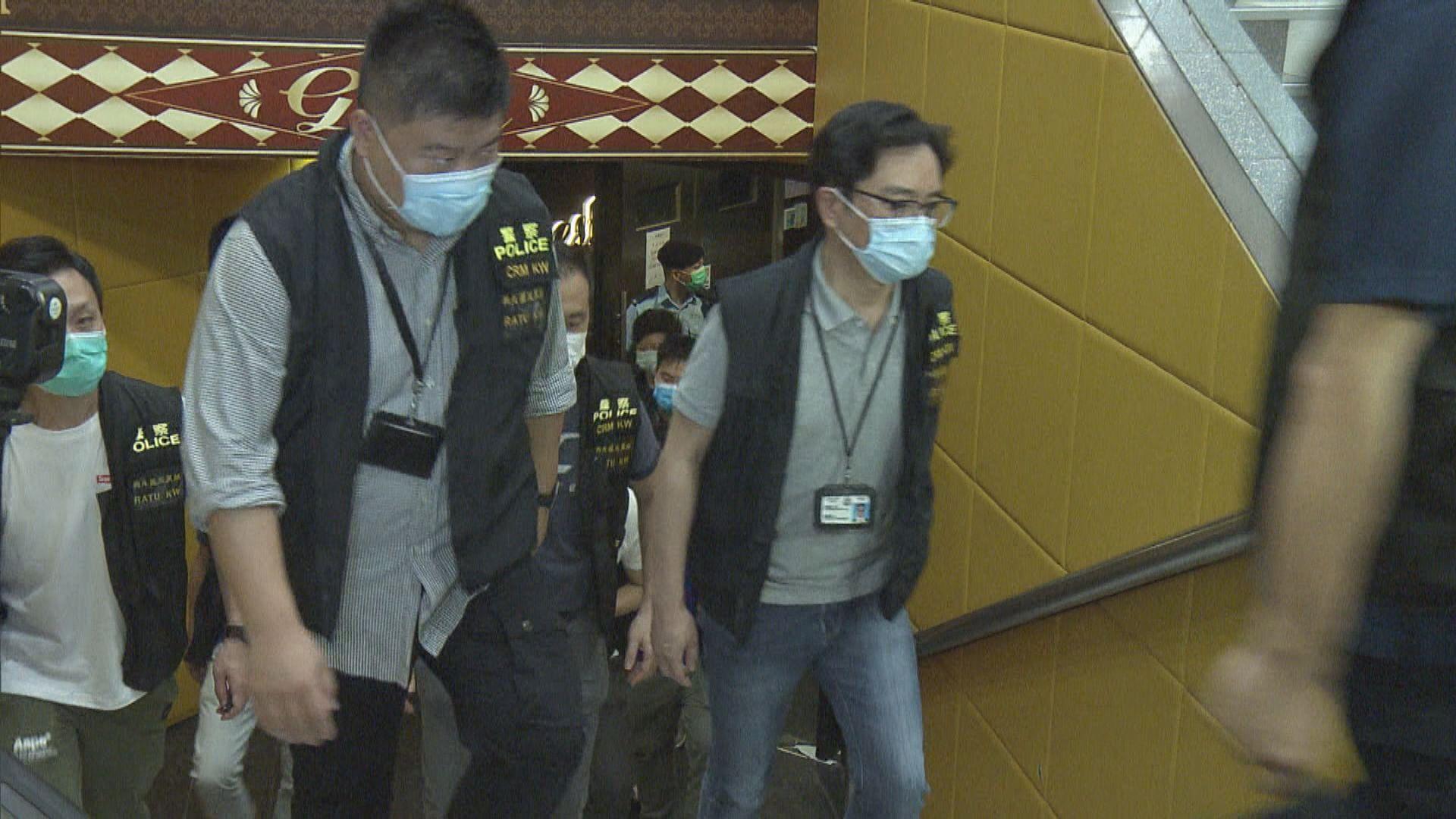 警方西九龍反黑拘六十男女