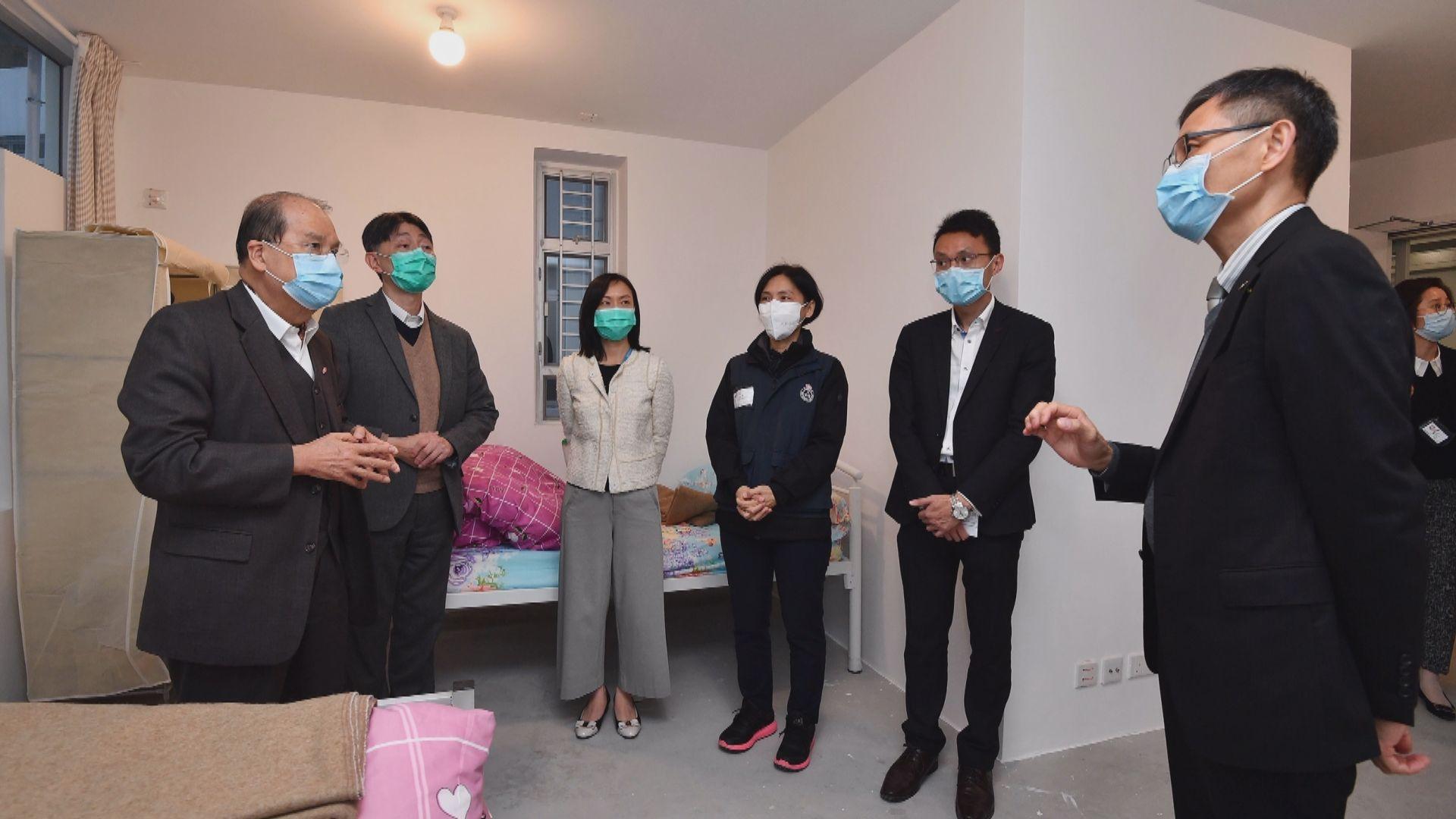 張建宗︰政府目標今月內駿洋邨增1600個檢疫單位