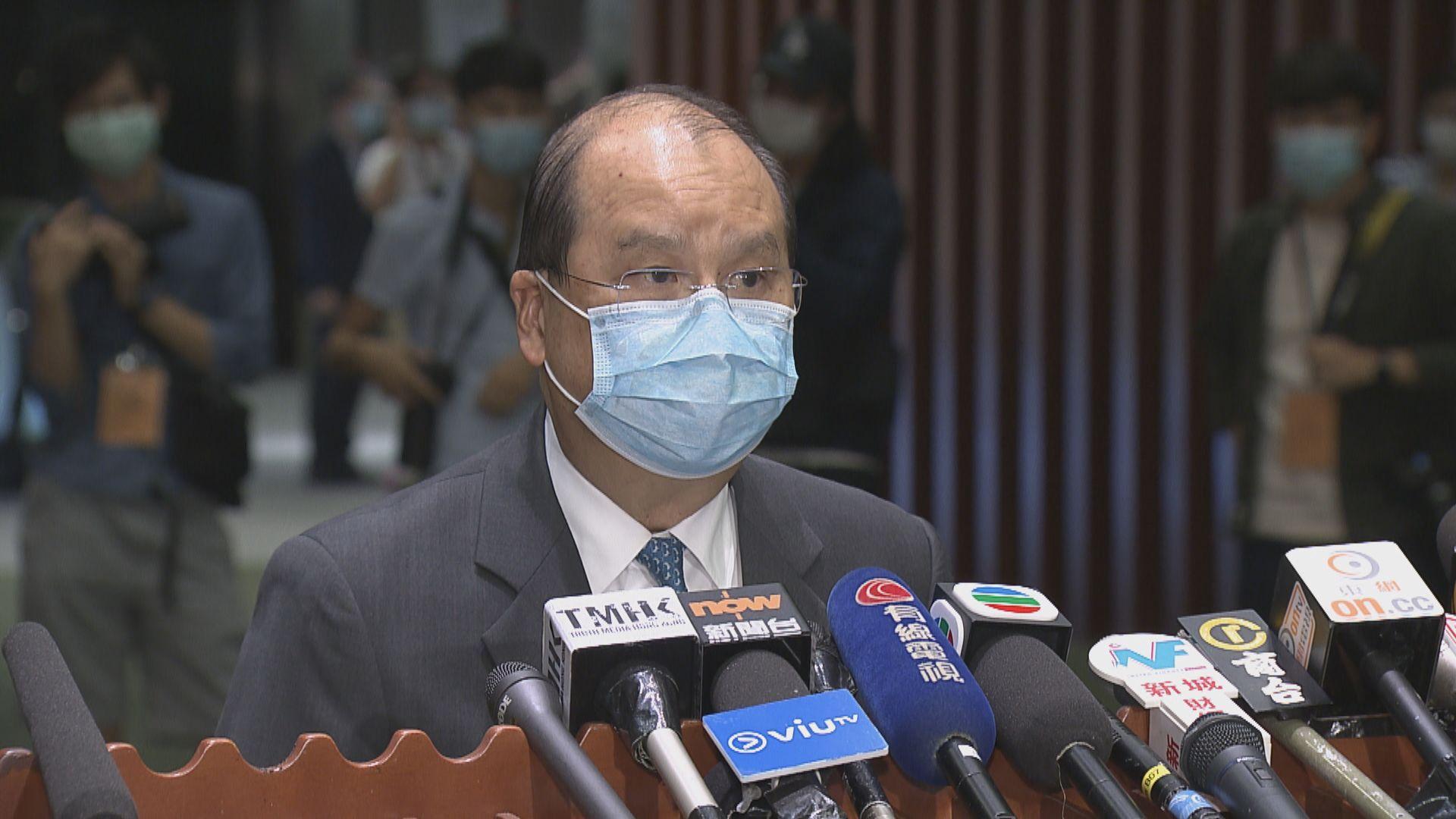 張建宗︰參選要求無變 投票應以香港利益為依歸