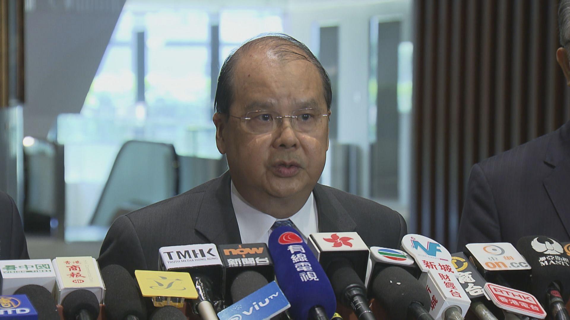 張建宗:政府全力支援警隊 籲市民與暴力割席