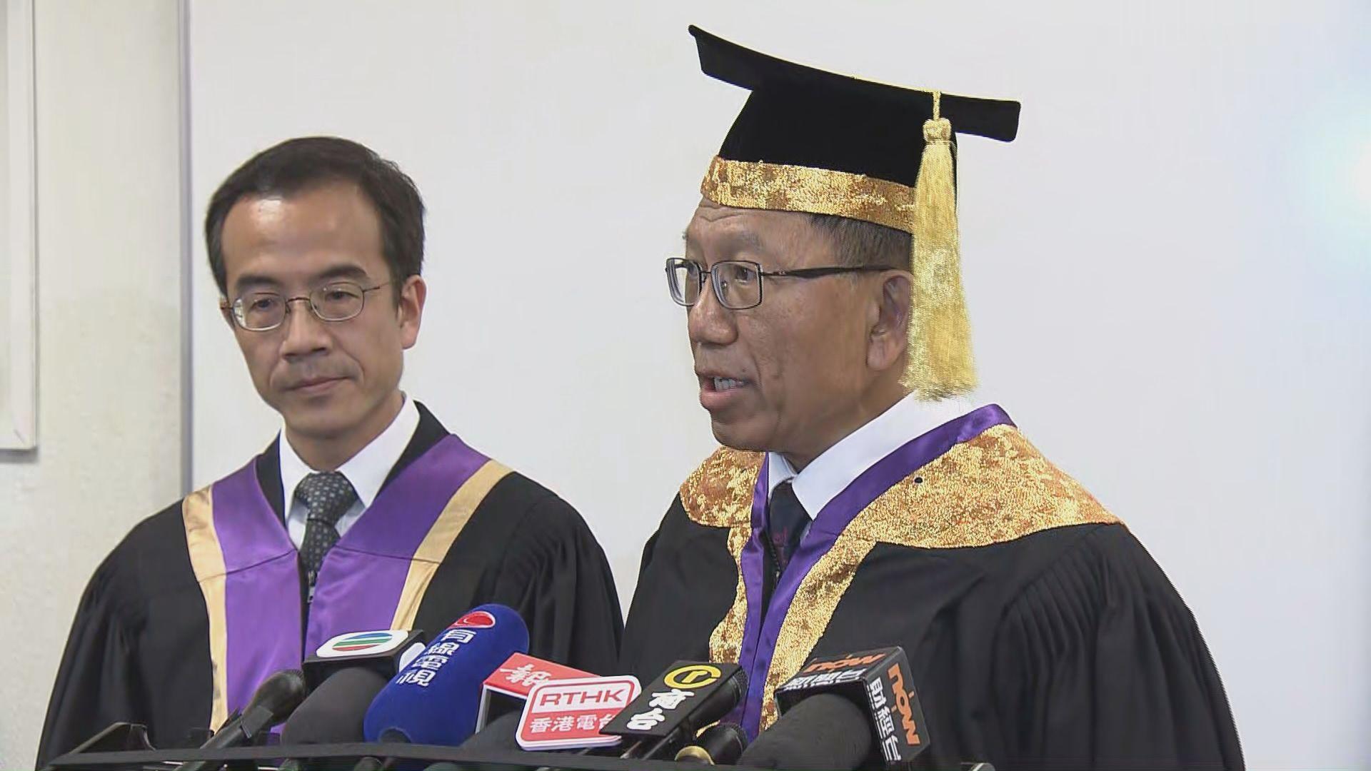 中大學生代表提港獨 校長重申大學不支持