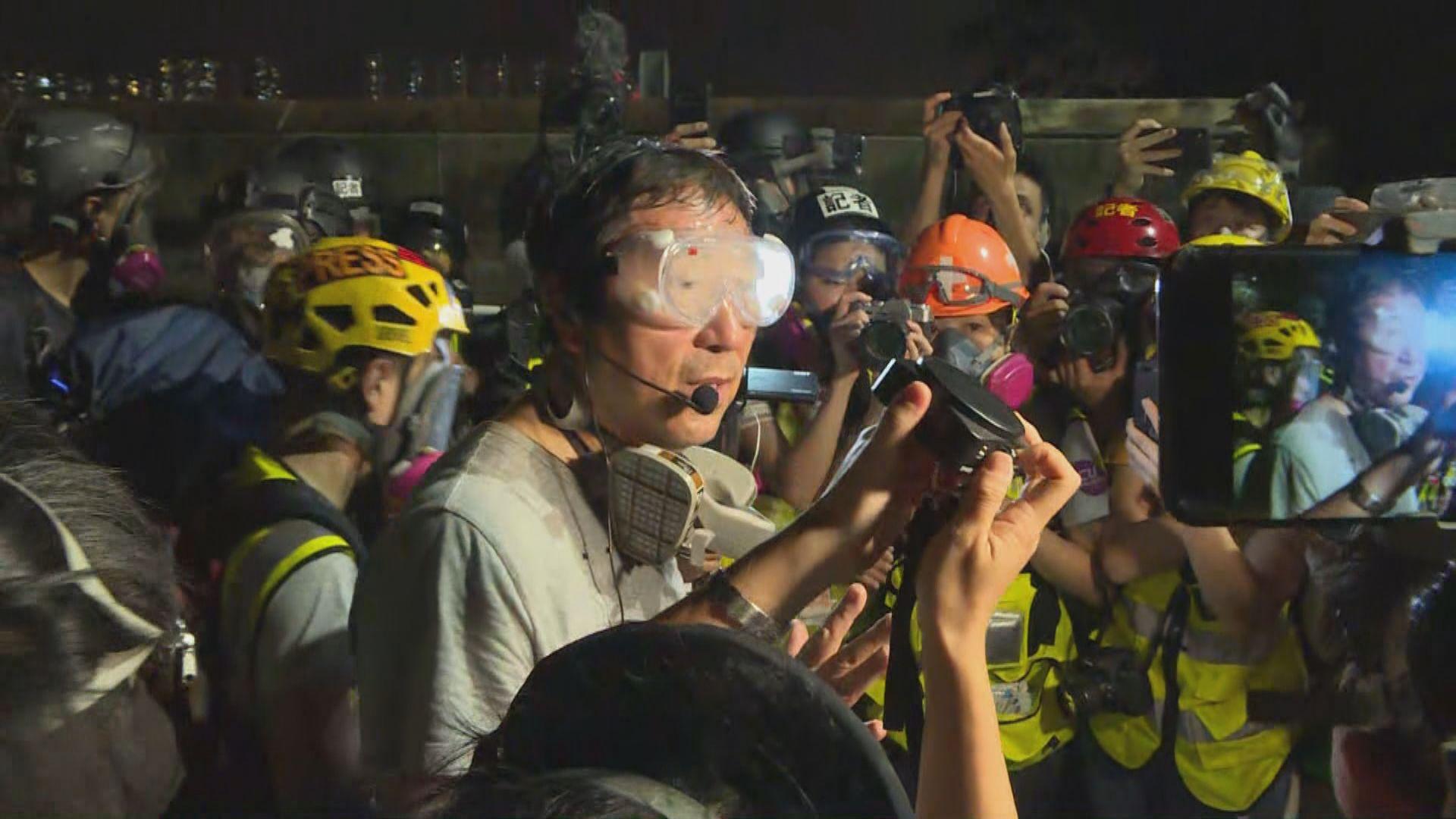 沈祖堯稱早前被捕三名中大學生已全部保釋