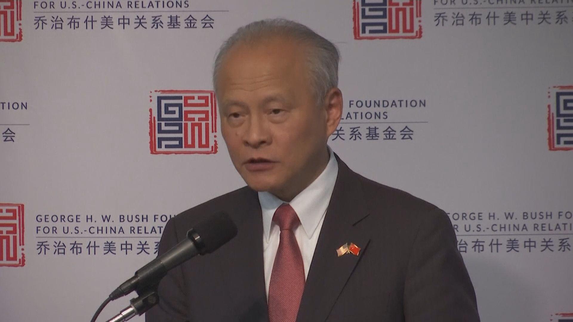 崔天凱:中央堅定不移推進一國兩制