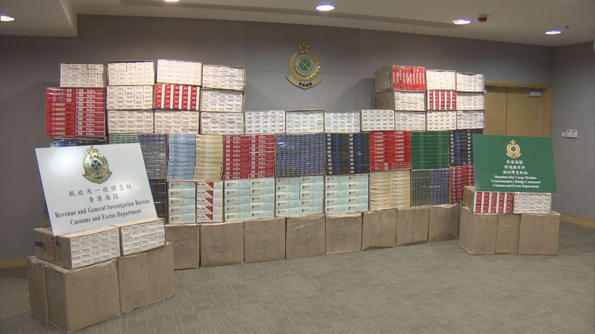 海關在深圳灣管制站檢獲360萬元私煙