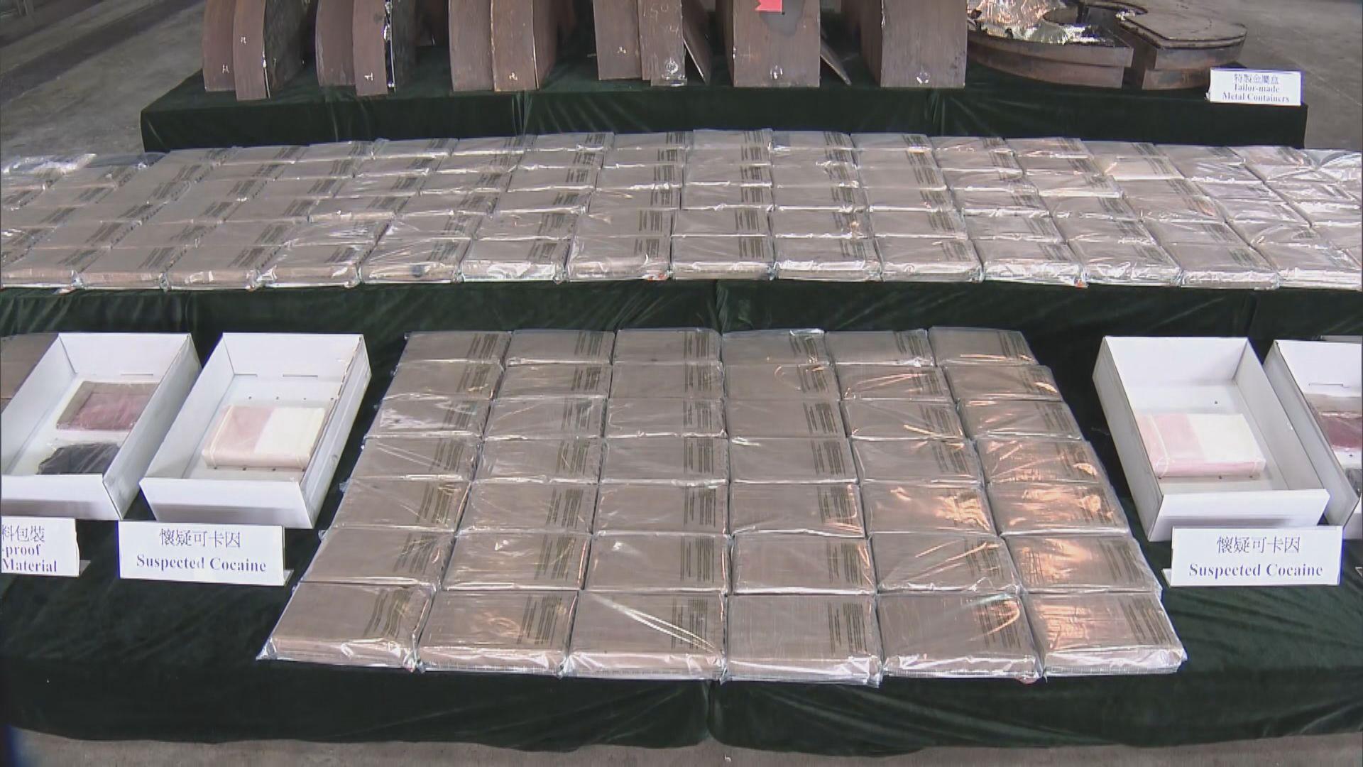 海關首發現毒犯用飛機引擎藏毒 檢獲約值2.5億毒品