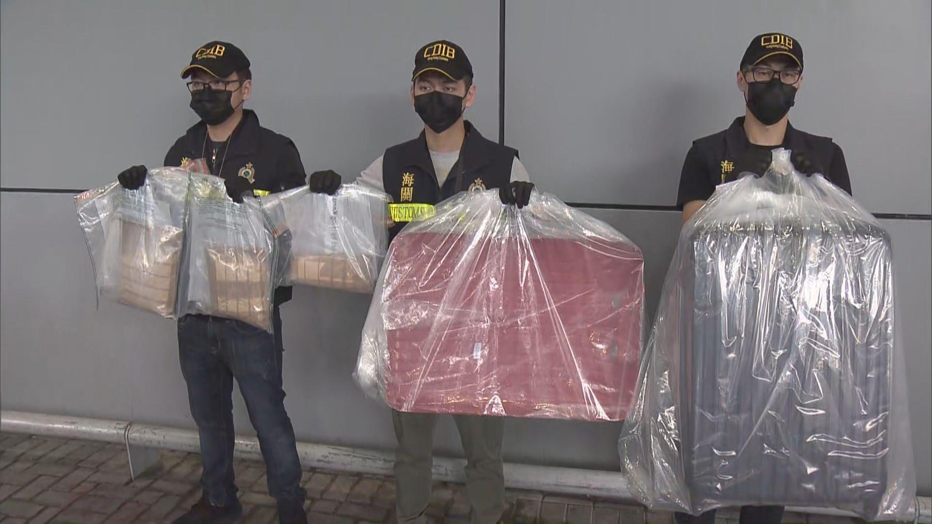 海關機場拘一男子檢五百萬元懷疑可卡因