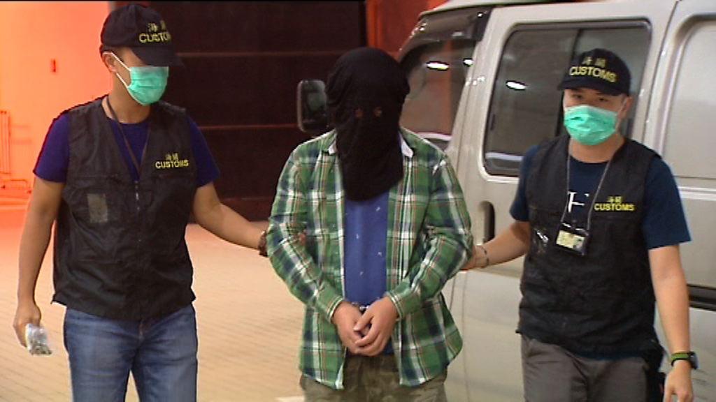 海關大圍拘一男子檢九萬元私煙