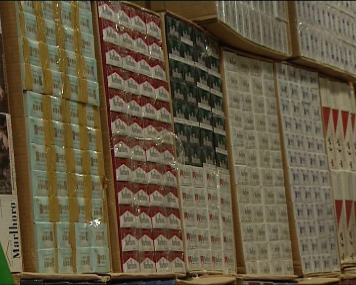 海關檢獲市值約350萬元私煙
