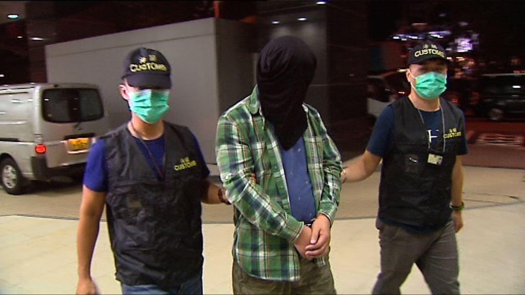 海關拘兩男子檢189萬元私煙
