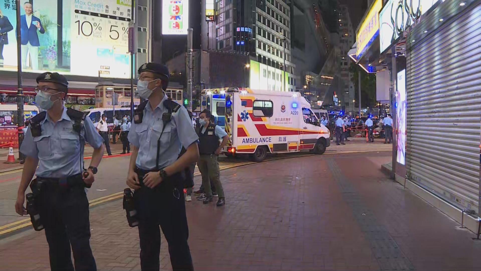 一警員銅鑼灣被刀襲擊受傷 疑兇自殘搶救不治