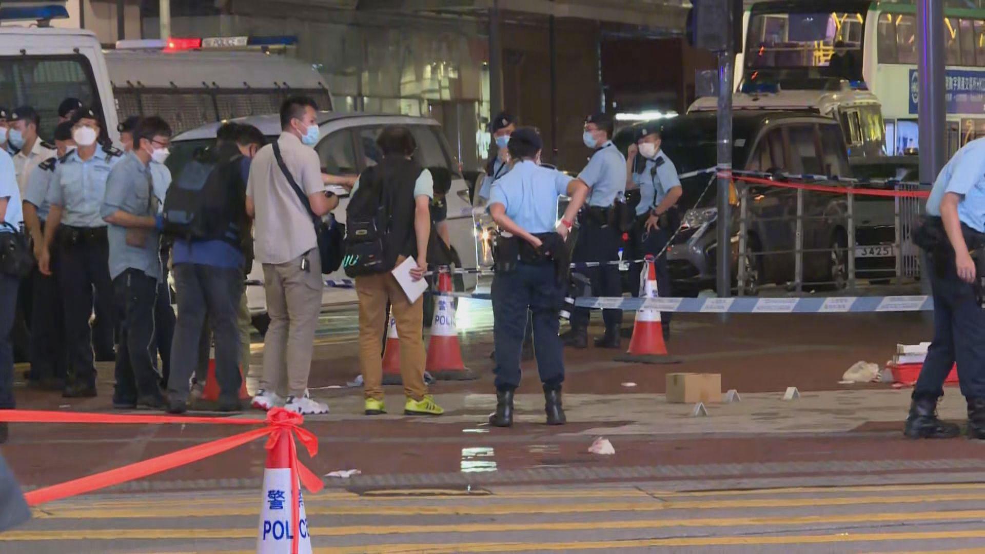 一警員銅鑼灣被刀襲擊 警方封鎖東角道一帶地氈式搜索