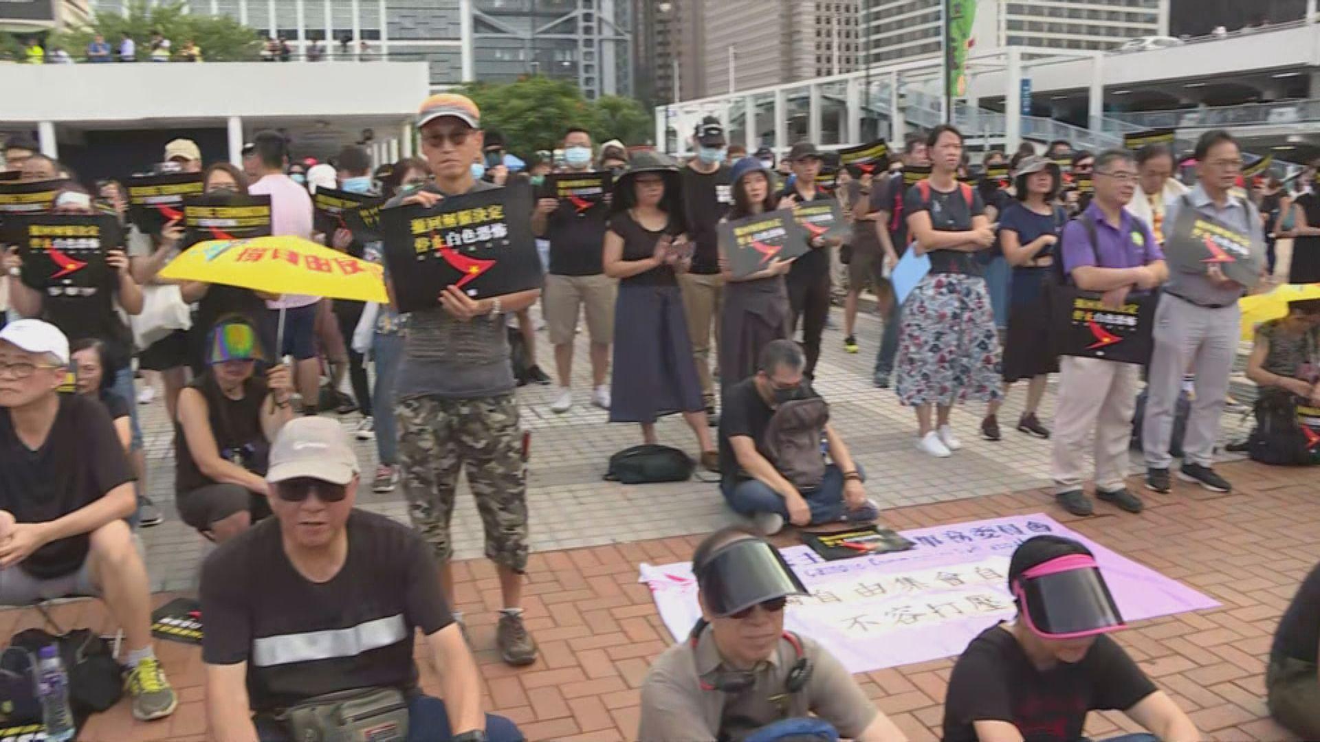 職工盟舉行集會聲援國泰被解僱員工