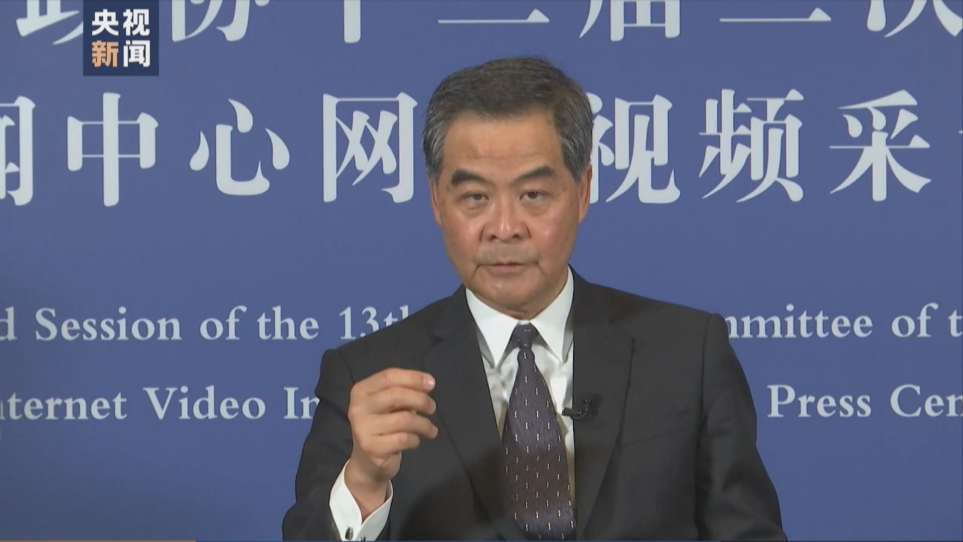 梁振英 : 反對派不要低估中央處理香港問題決心