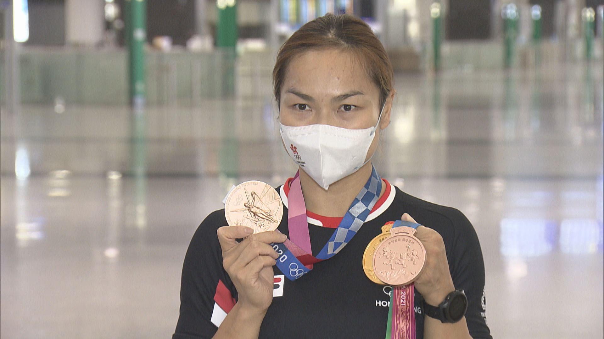 香港單車隊完成全運會賽事返港 李慧詩指滿意自己成績