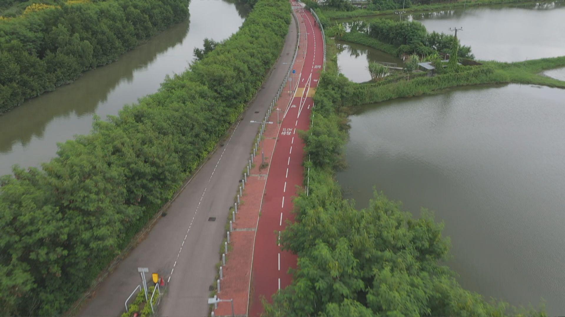 上水至元朗單車徑正式啟用 團體提醒過路口要小心