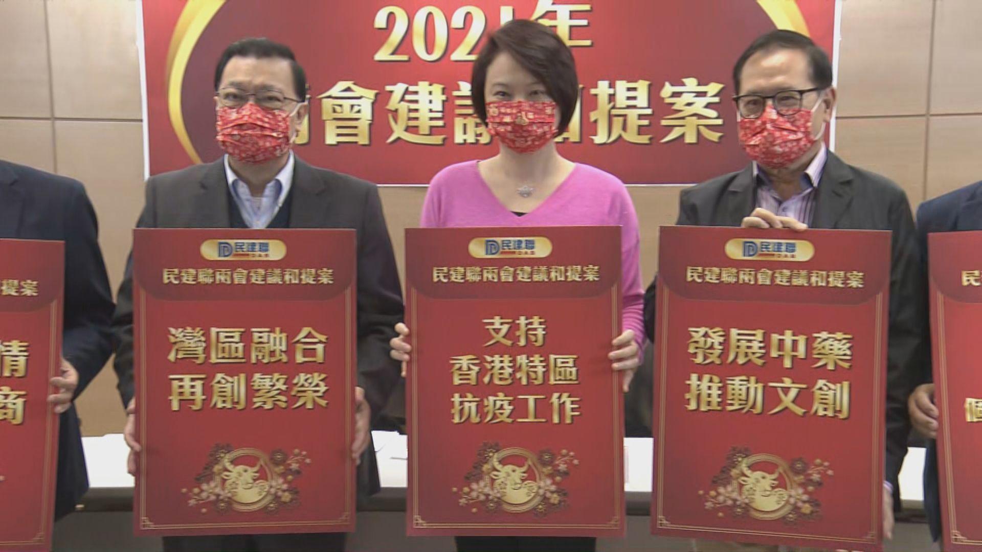 民建聯擬兩會提出22項人大建議和政協提案