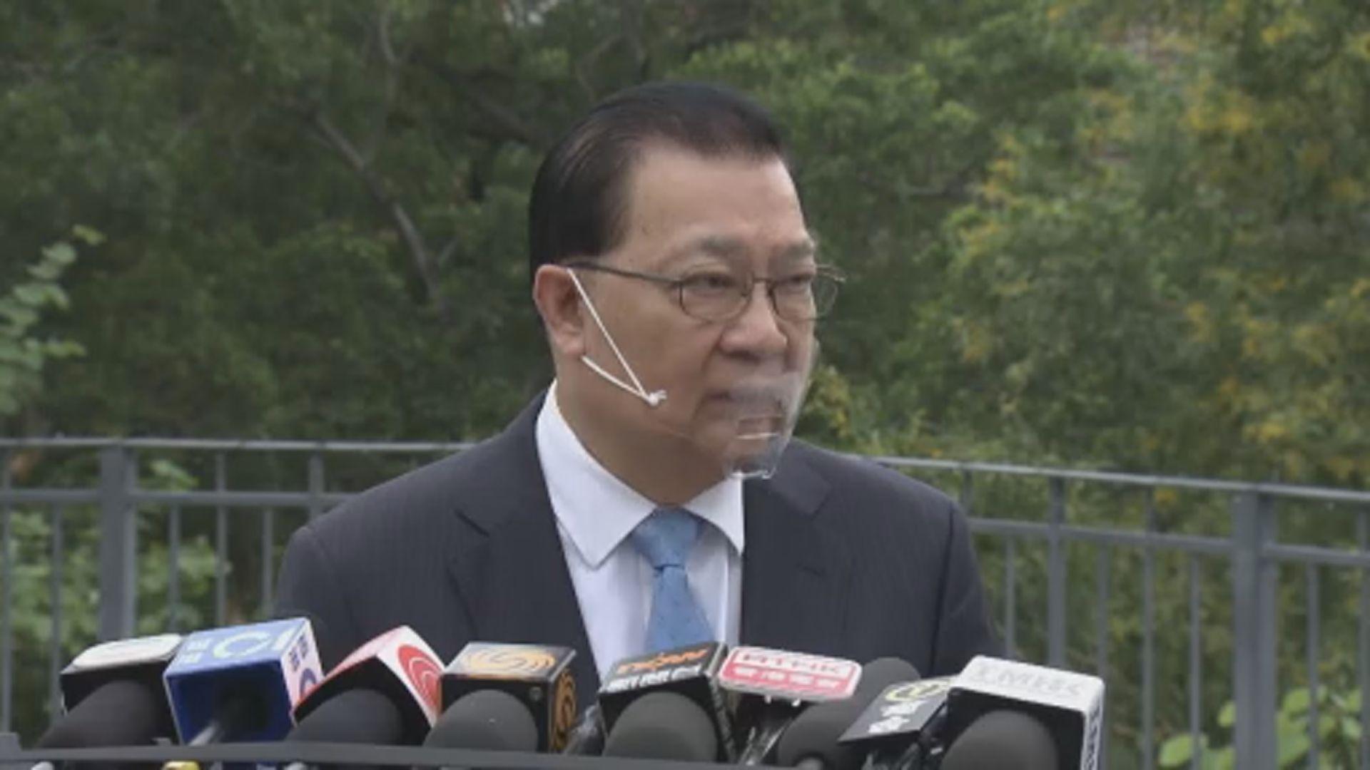 譚耀宗未聞夏寶龍南下了解選舉部署
