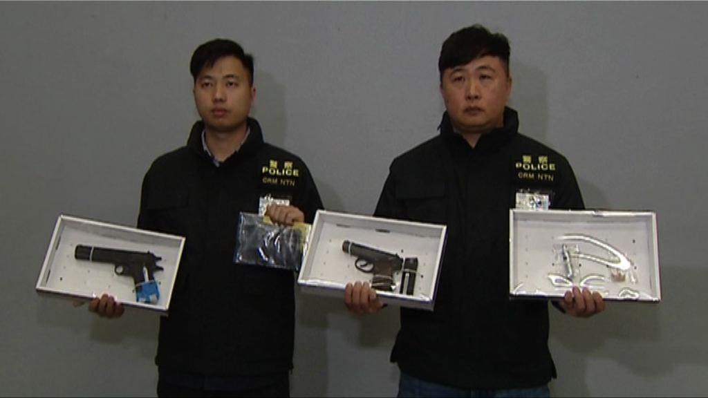 八鄉撞閘刑毀案警拘男女檢氣槍