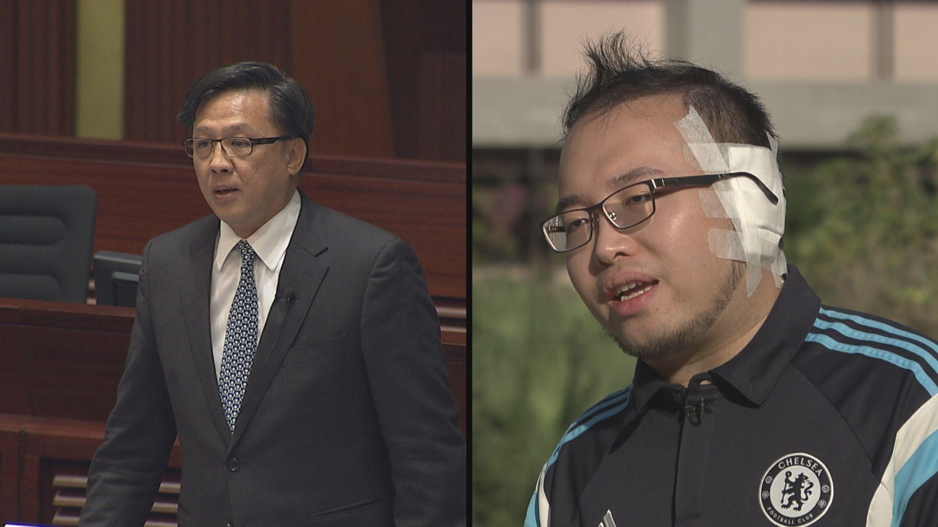 區選期間不同陣營候選人遇襲 趙家賢:一生不忘耳朵撕裂聲音
